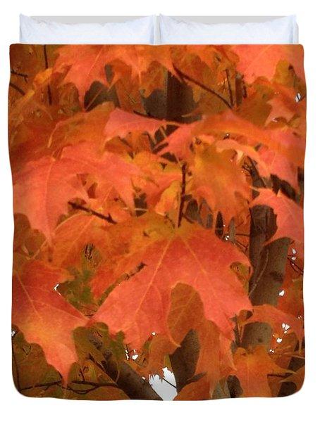 Maple Orange Duvet Cover