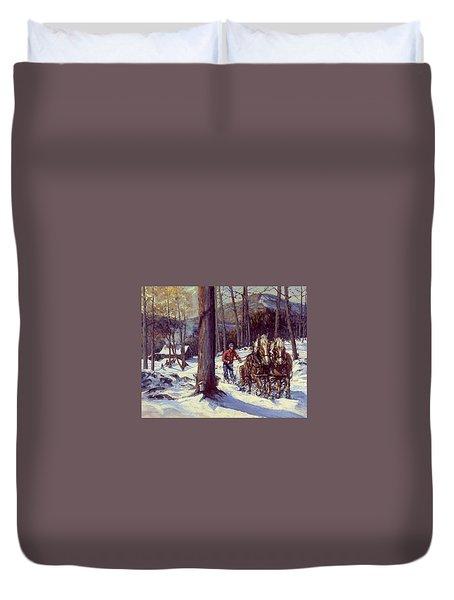 Maple Sugar Time Duvet Cover