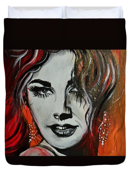 Duvet Cover featuring the painting Mara by Sandro Ramani