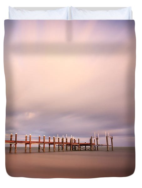 Marathon Key Long Exposure Duvet Cover by Adam Romanowicz