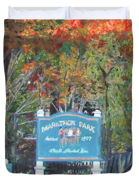 Marathon Park Duvet Cover