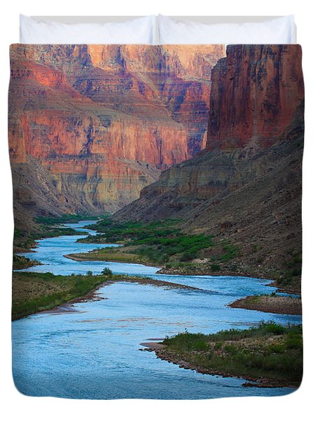 Marble Canyon Rafters Duvet Cover by Inge Johnsson