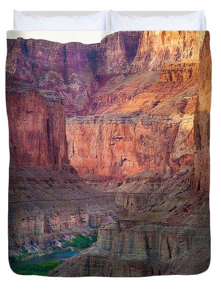 Marble Cliffs Duvet Cover