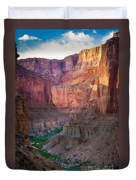 Marble Cliffs Duvet Cover