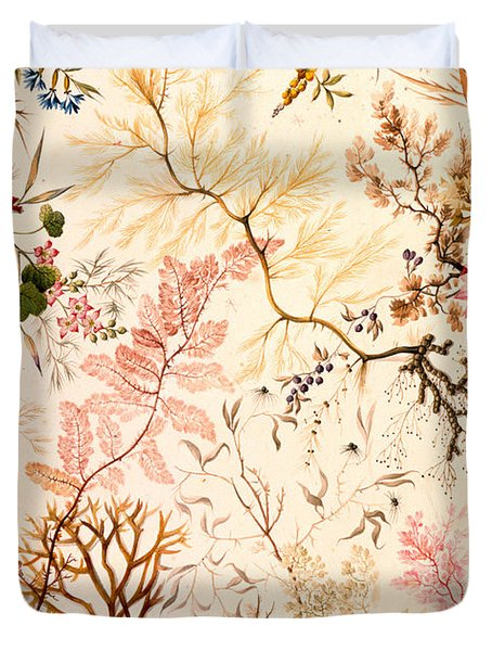 Marble End Paper  Duvet Cover by William Kilburn