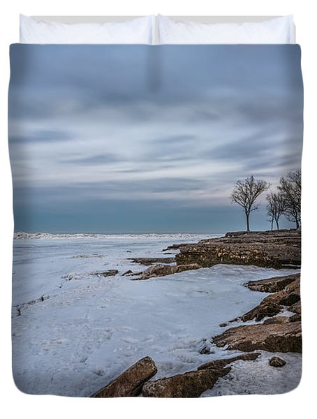 Marblehead Lighthouse  Duvet Cover by James Dean