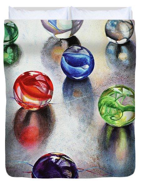 Marbles 1 Duvet Cover