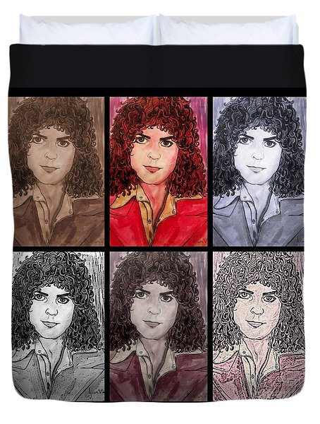 Marc Bolan Glam Rocker Collage Duvet Cover