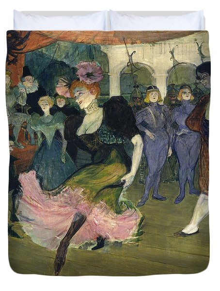Marcelle Lender Dancing The Bolero In Chilperic Duvet Cover by Henri de Toulouse-Lautrec