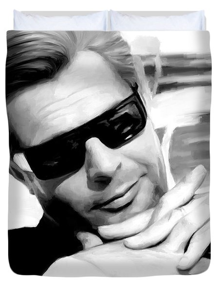 Marcello Mastroianni Portrait Duvet Cover