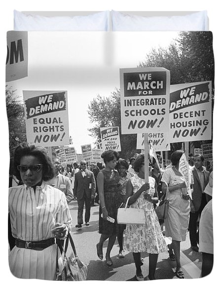 March On Washington Duvet Cover