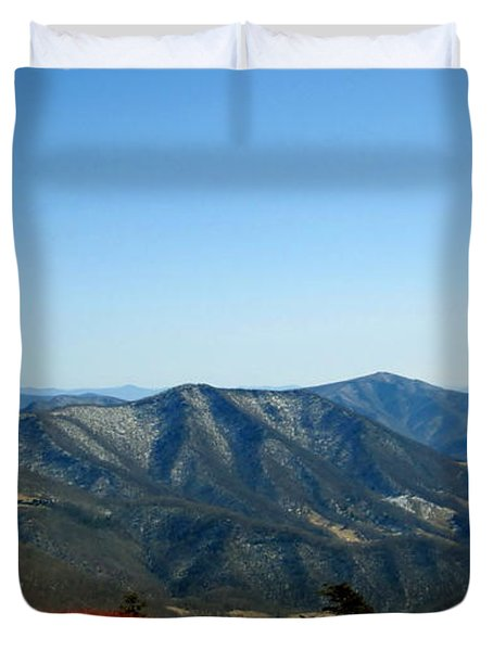 March Snow In The Mountains Duvet Cover