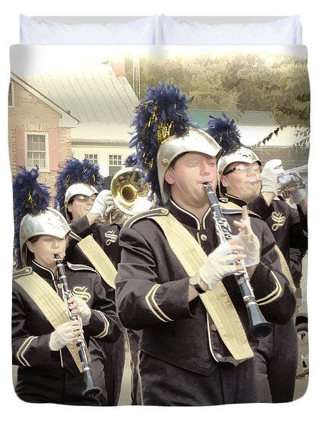 Marching Band - Shepherd University Ram Band At Homecoming 2012 Duvet Cover