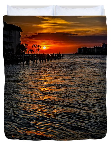 Marco Island Sunset 43 Duvet Cover