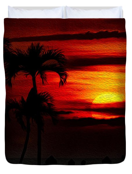Marco Island Sunset 59 Duvet Cover