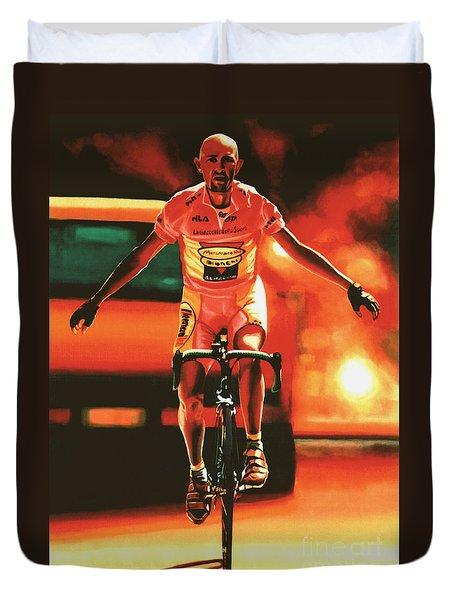 Marco Pantani Duvet Cover by Paul Meijering