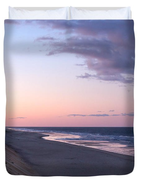 Marconi Beach At Dusk Duvet Cover by Brian Caldwell