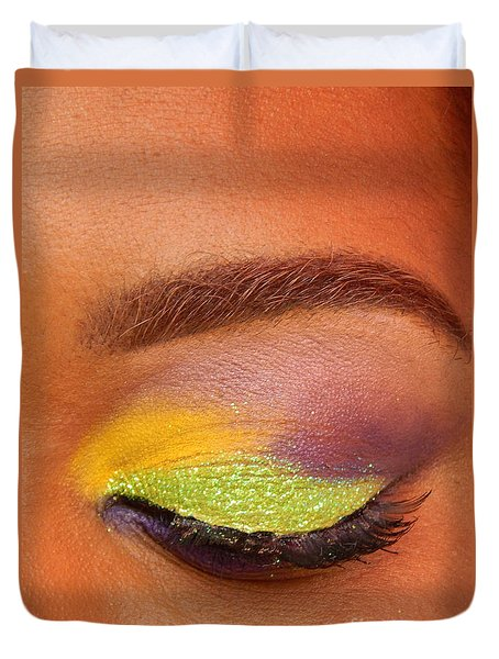 Mardi Gras 2014 Eye See Colors Of Mardi Gras Duvet Cover by Michael Hoard