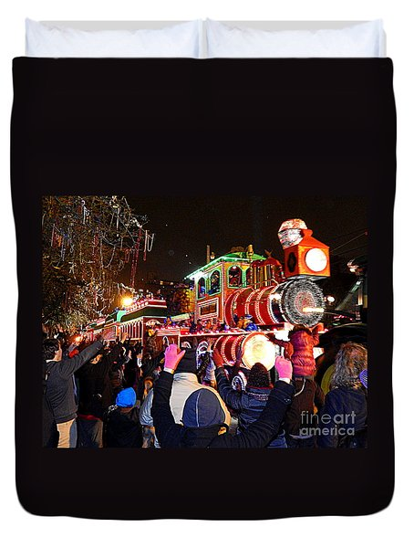 New Orleans Mardi Gras 2014 Orpheus Super Float Smokey Mary Duvet Cover