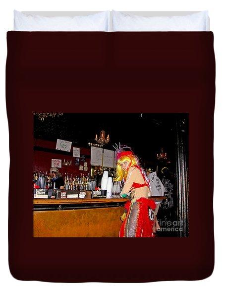 Mardi Gras Bar French Quarter Duvet Cover