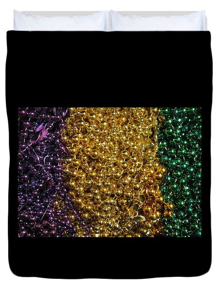 Mardi Gras Beads - New Orleans La Duvet Cover