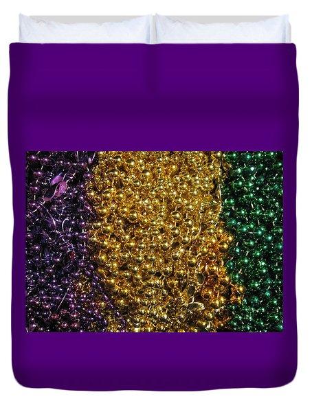 Mardi Gras Beads - New Orleans La Duvet Cover