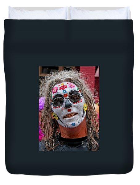 Mardi Gras Happy Face Duvet Cover