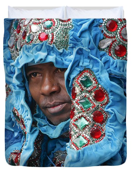 Mardi Gras Indian Duvet Cover