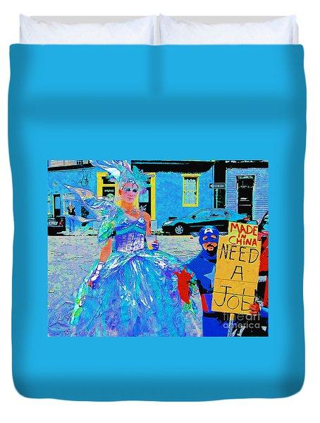 Mardi Gras New Orleans Duvet Cover