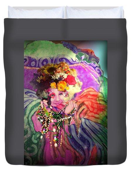 Mardi Gras Queen Duvet Cover