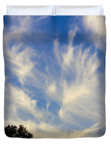 Mare's Tail Duvet Cover by John M Bailey