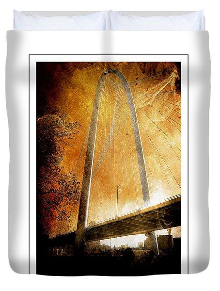 Margaret Hunt Hill Bridge Dallas Texas Duvet Cover