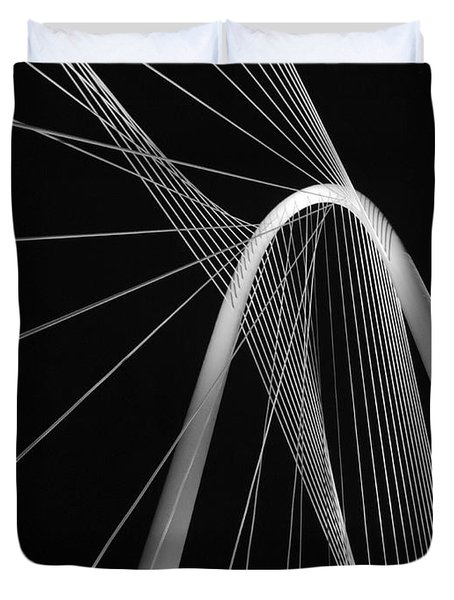 Margaret Hunt Hill Bridge Dallas Texas Duvet Cover by Robert ONeil