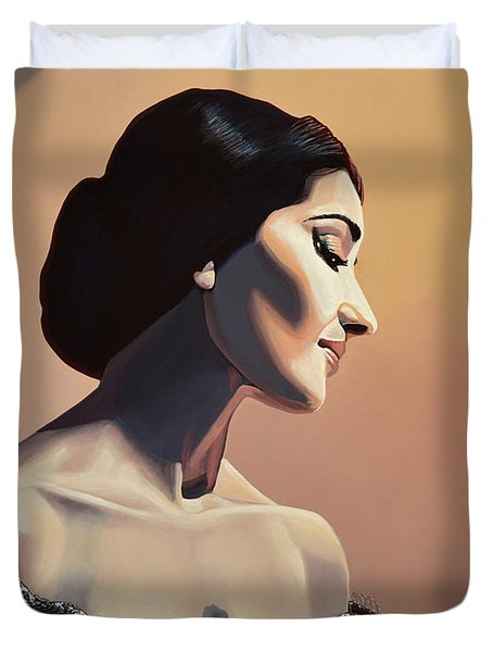 Maria Callas Painting Duvet Cover