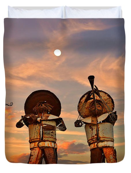 Duvet Cover featuring the photograph Mariachi Band by Christine Till