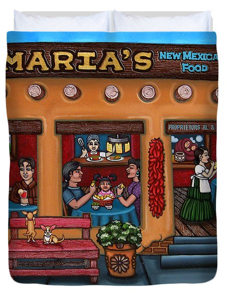 Maria's New Mexican Restaurant Duvet Cover