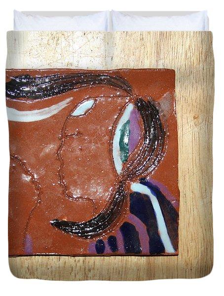 Maribel - Tile Duvet Cover by Gloria Ssali