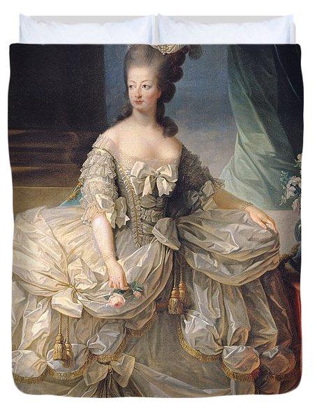 Marie Antoinette Queen Of France Duvet Cover by Elisabeth Louise Vigee-Lebrun