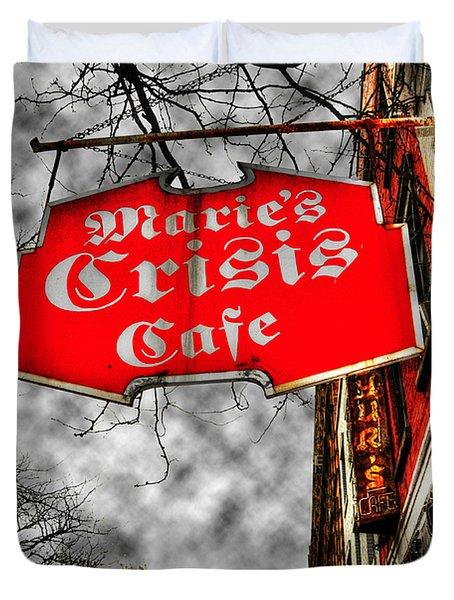 Marie's Crisis Cafe Duvet Cover