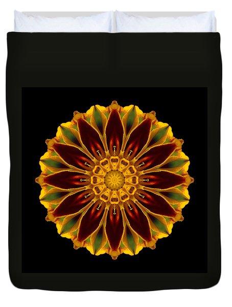 Marigold Flower Mandala Duvet Cover