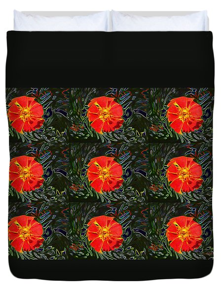 Marigold Mighty Duvet Cover by Kathy Bassett