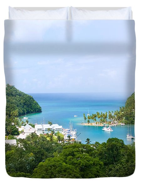 Marigot Bay, St Lucia Duvet Cover