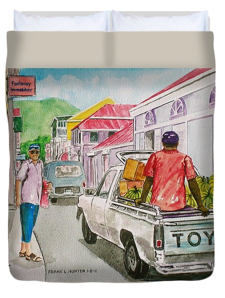 Marigot St. Martin Duvet Cover by Frank Hunter