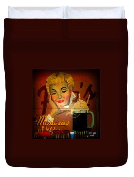 Marilyn And Fitz's Duvet Cover by Kelly Awad