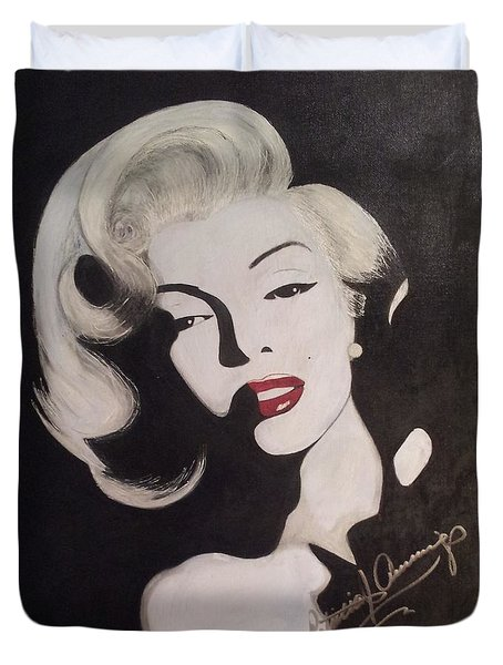 Marilyn In The Moonlight Duvet Cover
