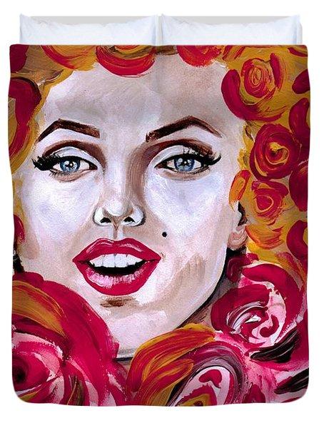 Marilyn Mon-rose Timeless Beauty Duvet Cover
