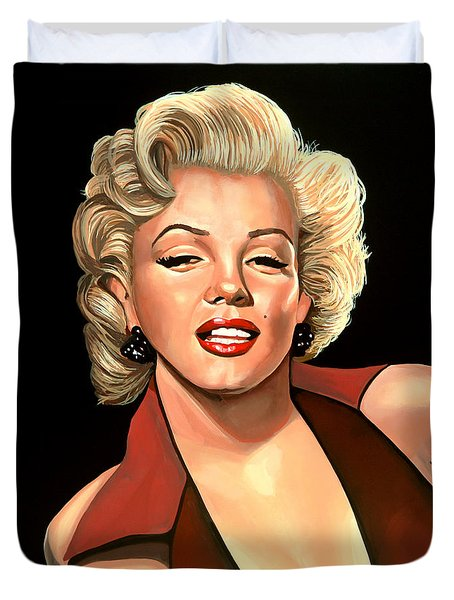 Marilyn Monroe 4 Duvet Cover by Paul Meijering