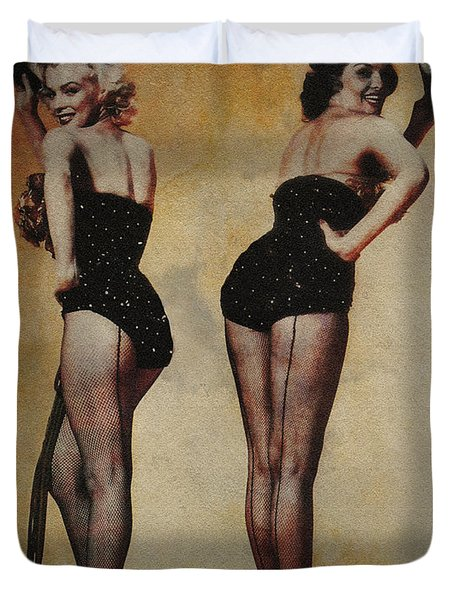 Duvet Cover featuring the photograph Marilyn Monroe And Jane Russell by Ericamaxine Price