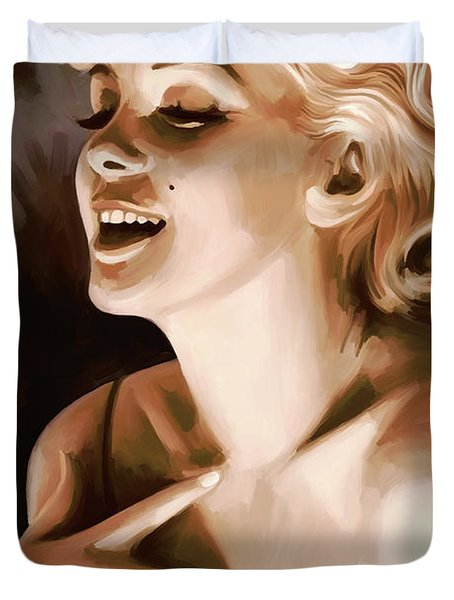 Marilyn Monroe Artwork 1 Duvet Cover by Sheraz A