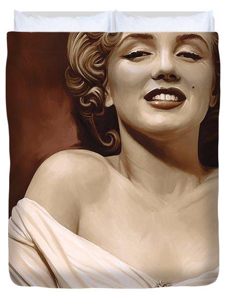 Marilyn Monroe Artwork 2 Duvet Cover by Sheraz A